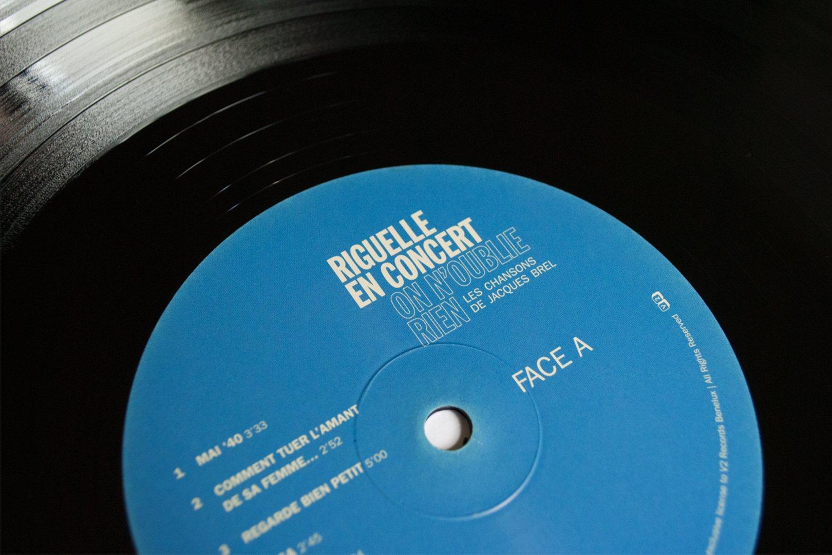 Riguelle grafisch typografie verpakking album ontwerp